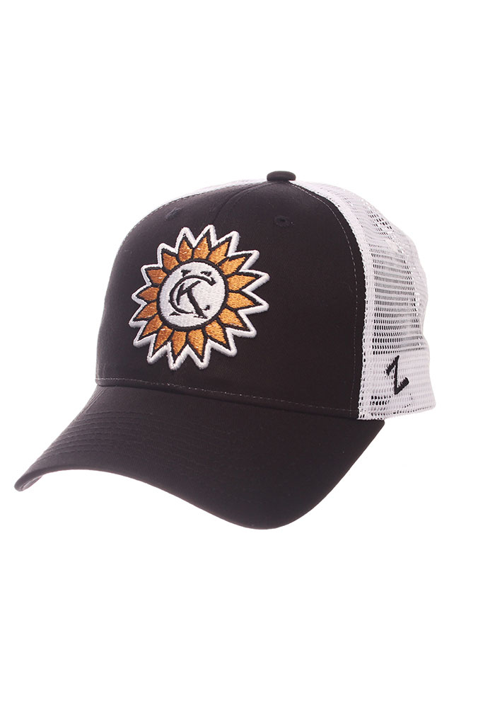 Zephyr Kansas City Sunflower Trucker Adjustable Hat - Black - Image 1