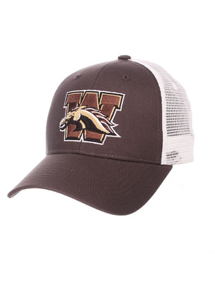 Zephyr Western Michigan Broncos Mens Grey Big Rig Adjustable Hat