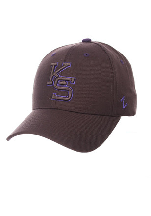 Zephyr K-State Wildcats Mens Grey Tonal Competitor Adjustable Hat