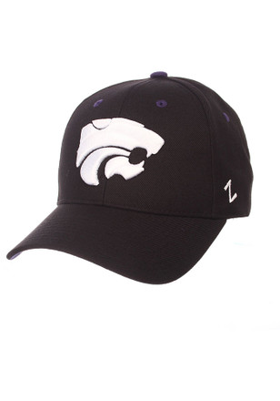 Zephyr K-State Wildcats Mens Black Competitor Adjustable Hat