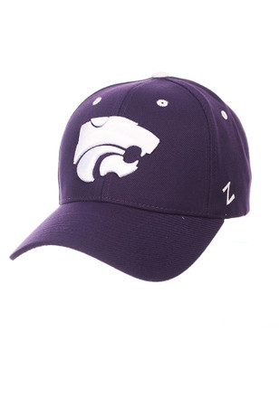 Zephyr K-State Wildcats Mens Purple Competitor Adjustable Hat