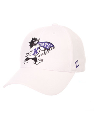 Zephyr K-State Wildcats Mens White Willie Competitor Adjustable Hat