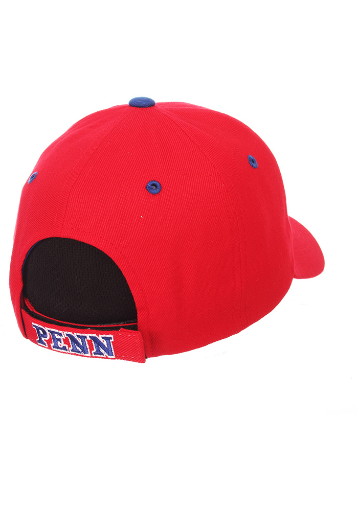Zephyr Pennsylvania Quakers Competitor Adjustable Hat - Red - Image 2