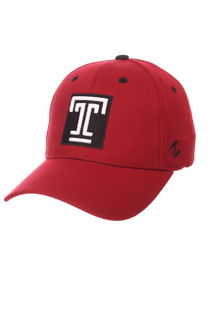 Zephyr Temple Owls Competitor Adjustable Hat - Cardinal - Image 1