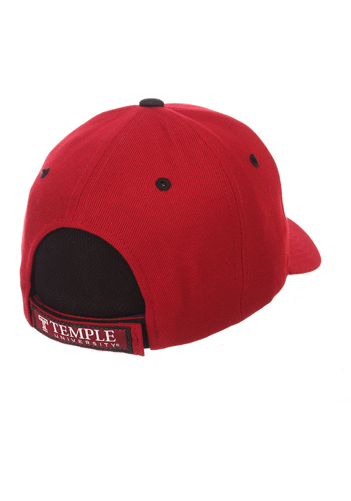 Zephyr Temple Owls Competitor Adjustable Hat - Cardinal - Image 2