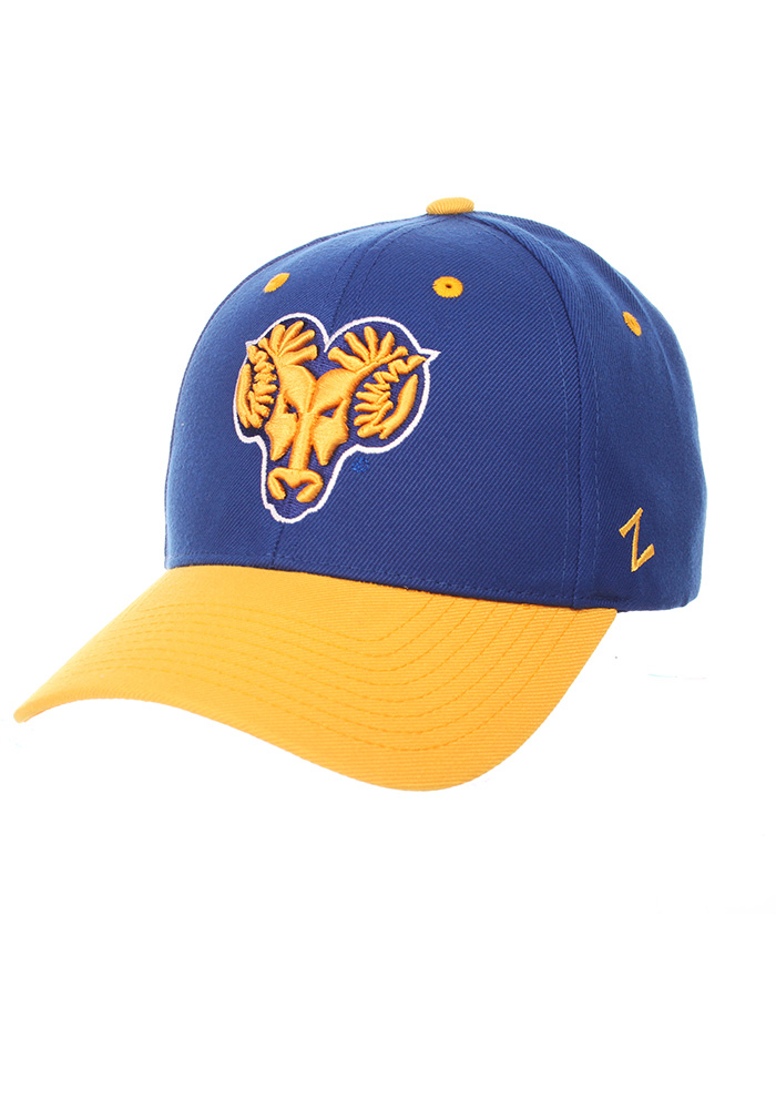 0271e7cdf99 Zephyr West Chester Golden Rams Blue Competitor Adjustable Hat