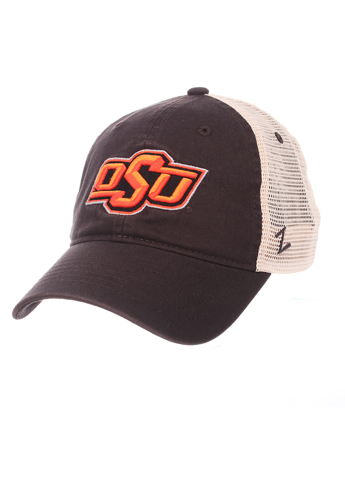 Zephyr Oklahoma State Cowboys Grey University Adjustable Hat 3747f347cb34