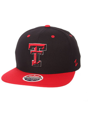 Zephyr Texas Tech Red Raiders Mens Black Z11 Snapback Hat