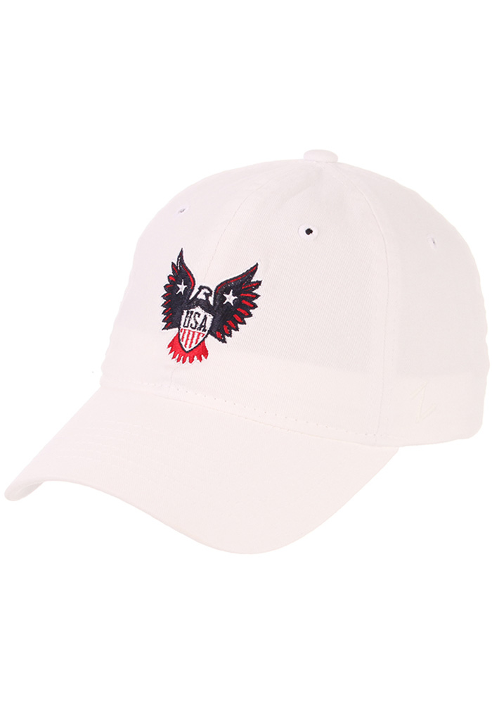 Zephyr Team USA Mens White Eagle Adjustable Hat - Image 1