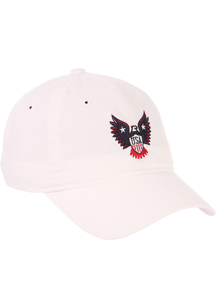 Zephyr Team USA Mens White Eagle Adjustable Hat - Image 2
