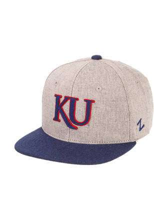 6a04b9bb585 Zephyr Kansas Jayhawks Youth Grey Boulevard Snapback Hat