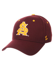 Arizona State Sun Devils DH Fitted Hat - Maroon