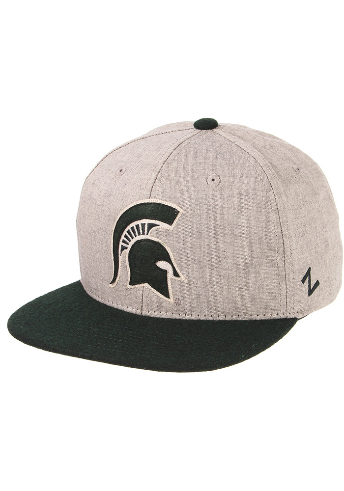 Zephyr Michigan State Spartans Grey Boulevard Mens Snapback Hat - Image 1