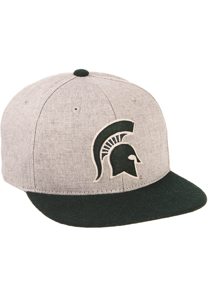 Zephyr Michigan State Spartans Grey Boulevard Mens Snapback Hat - Image 2