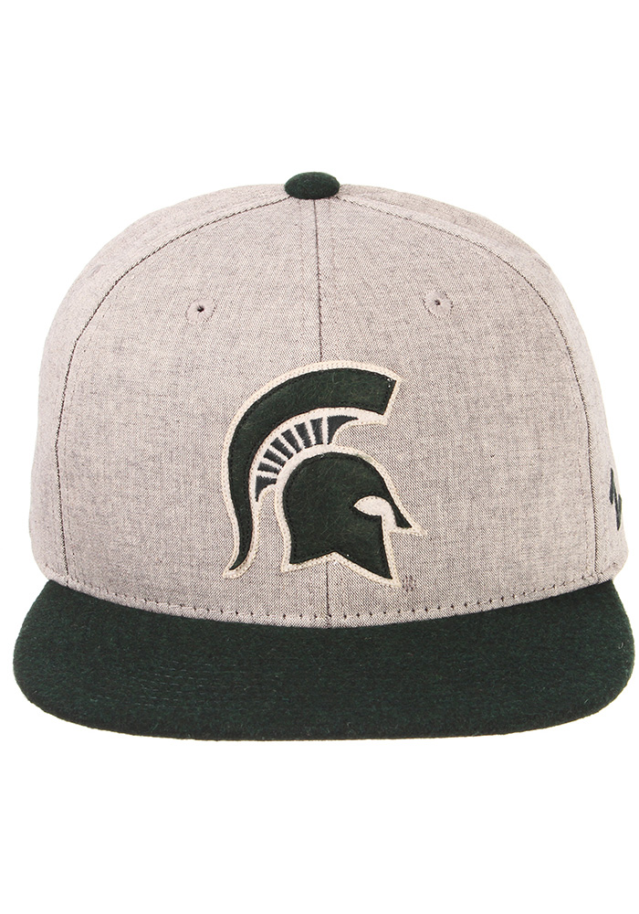 Zephyr Michigan State Spartans Grey Boulevard Mens Snapback Hat - Image 3