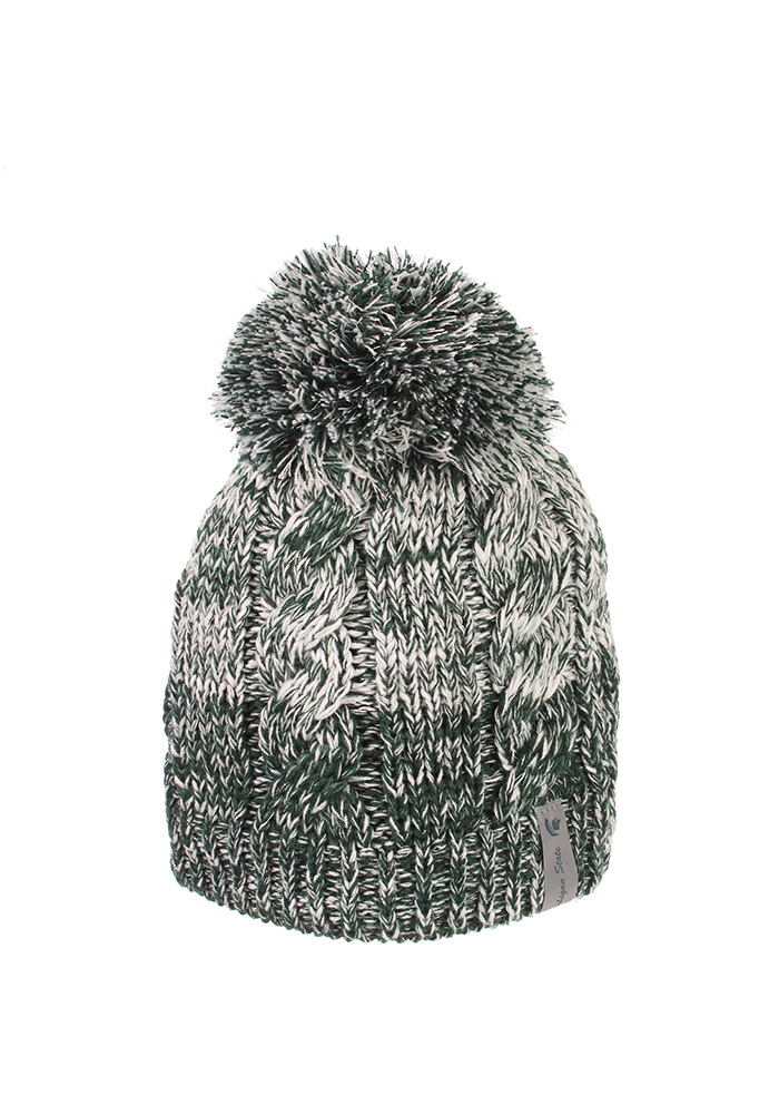 518d89a00e3 ... sweden zephyr michigan state spartans womens green sparkler pom knit hat  958ad 10291