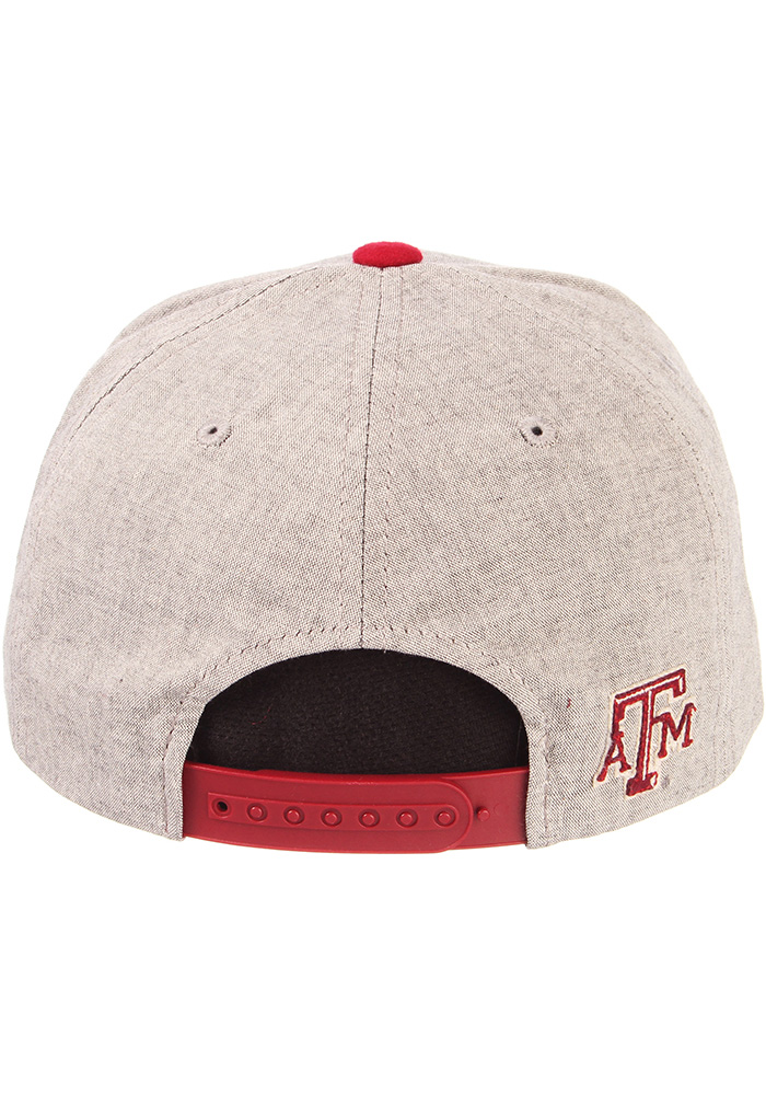 Zephyr Texas A&M Aggies Grey Boulevard Youth Snapback Hat - Image 5