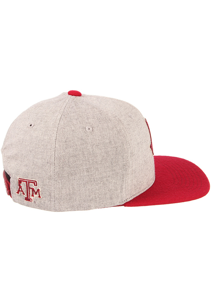 Zephyr Texas A&M Aggies Grey Boulevard Youth Snapback Hat - Image 6
