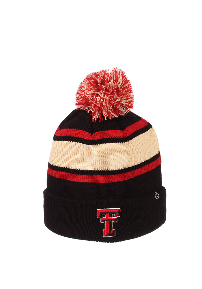 Zephyr Texas Tech Red Raiders Black Tradition Cuff Mens Knit Hat - Image 1