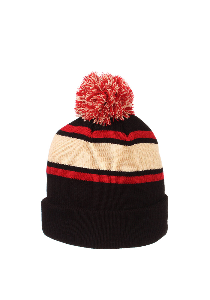 Zephyr Texas Tech Red Raiders Black Tradition Cuff Mens Knit Hat - Image 2
