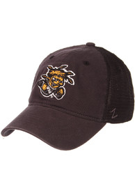 Wichita State Shockers Zephyr Raven Meshback Adjustable Hat - Charcoal