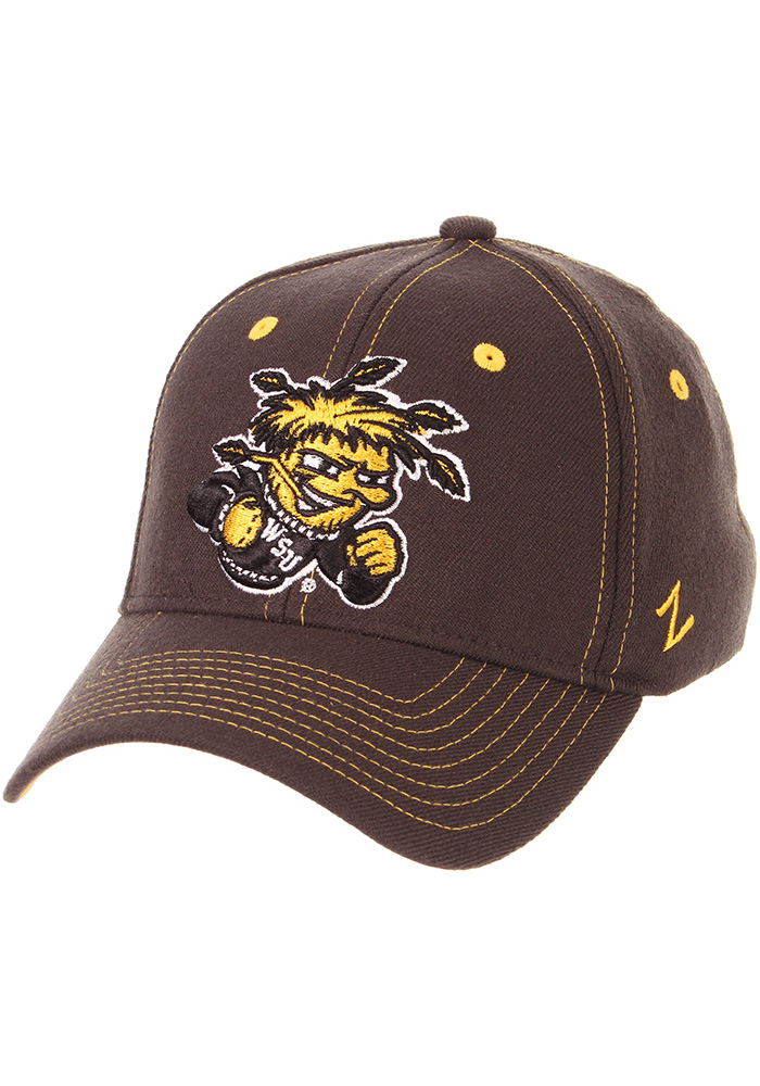 new product 3a55b 7d79d ... reduced zephyr wichita state shockers grey gravity flex hat 9c36a c950f