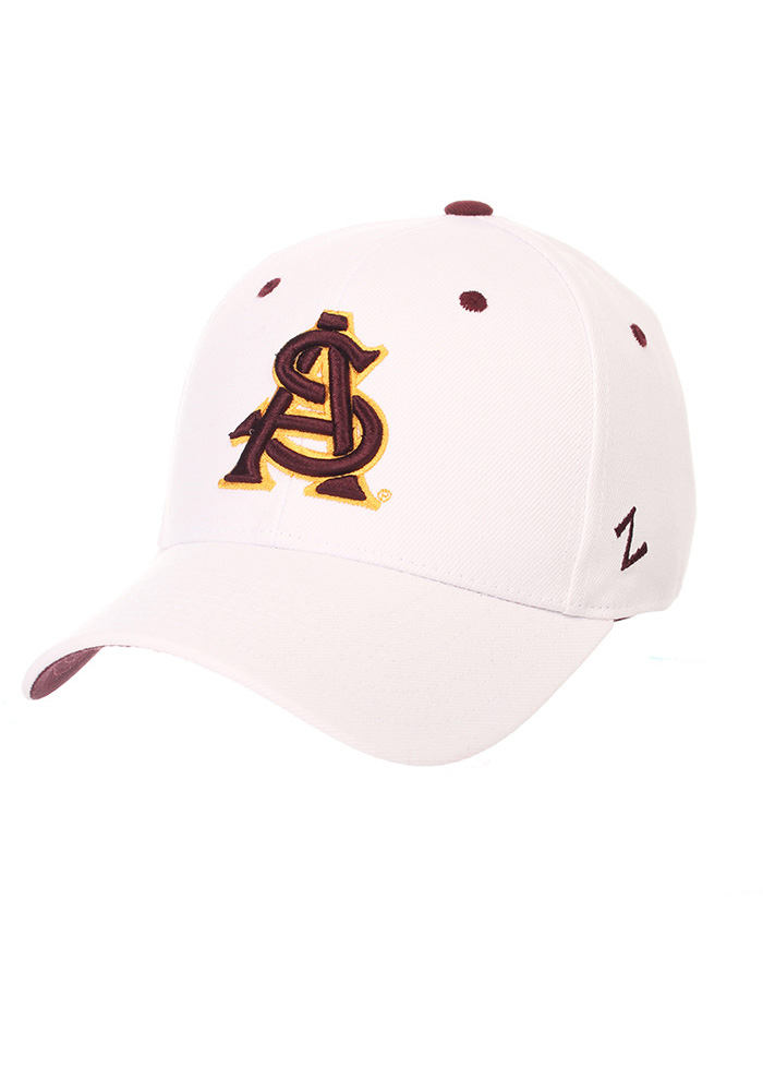 Arizona State Sun Devils DH Fitted Hat - White