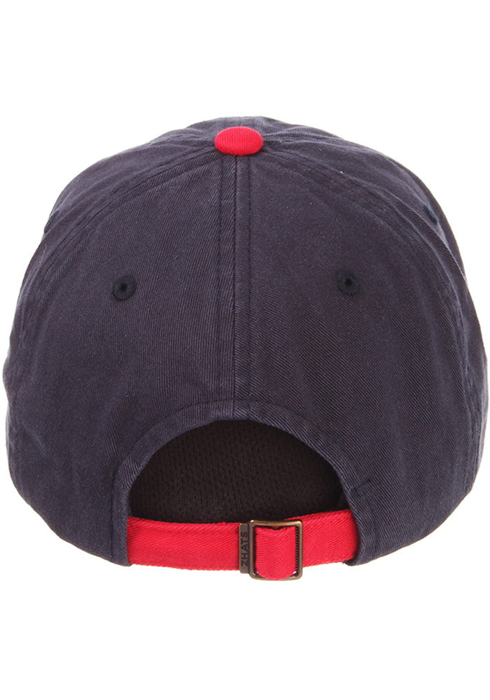 Zephyr Texas Mens Navy Blue State Outline with Flag Scholarship Adjustable Hat - Image 4
