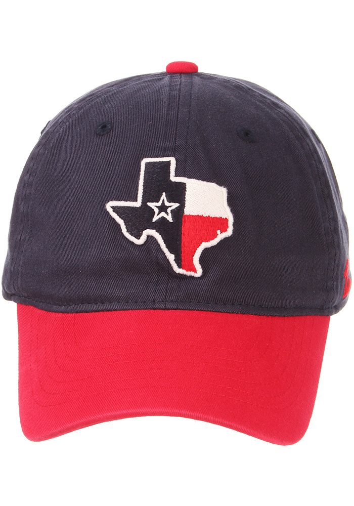 Zephyr Texas Mens Navy Blue State Outline with Flag Scholarship Adjustable Hat - Image 5