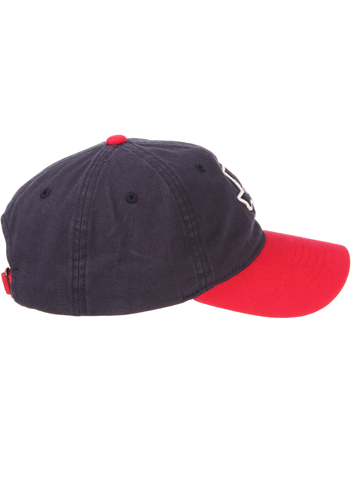 Zephyr Texas Mens Navy Blue State Outline with Flag Scholarship Adjustable Hat - Image 7