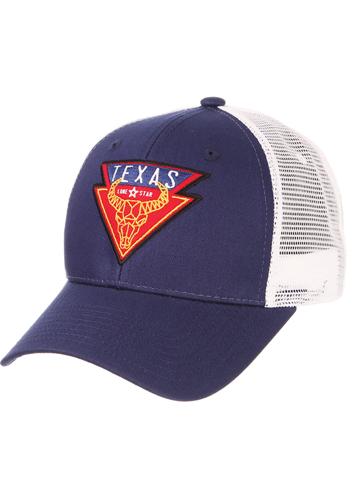 Zephyr Texas Geometric Bull Big Rig Adjustable Hat - Blue