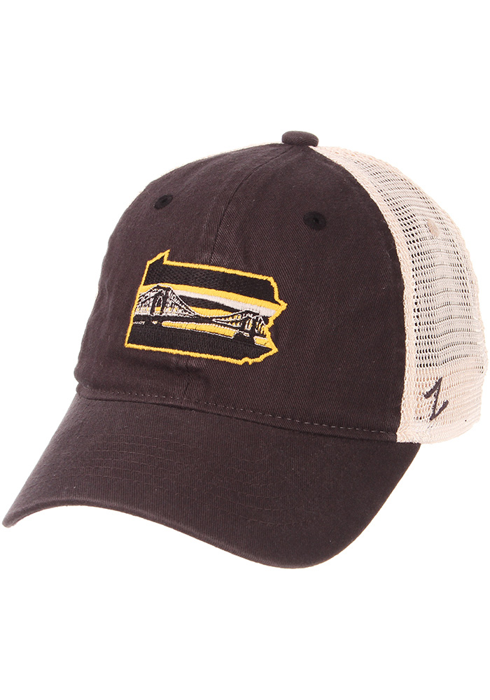 Zephyr Pittsburgh State with Bridge University Adjustable Hat - Charcoal - Image 1