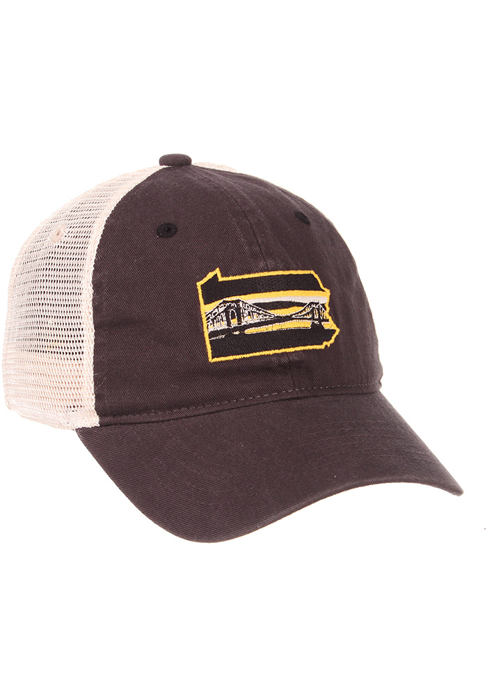 Zephyr Pittsburgh State with Bridge University Adjustable Hat - Charcoal - Image 2