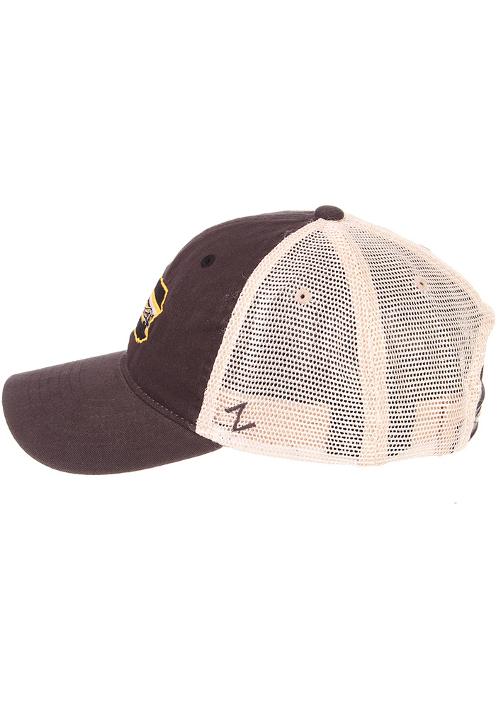 Zephyr Pittsburgh State with Bridge University Adjustable Hat - Charcoal - Image 6