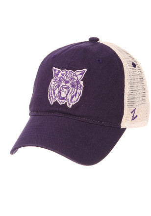 save off a12af 3473f Zephyr K-State Wildcats Purple Throwback University Adjustable Hat