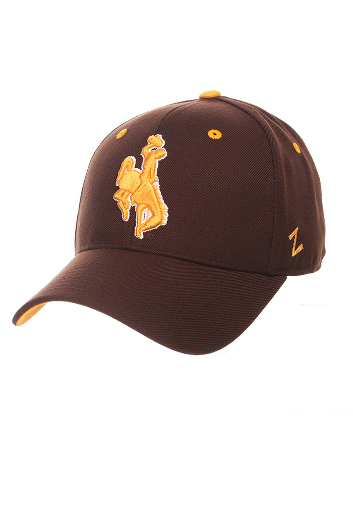 Zephyr Wyoming Cowboys Mens Brown DH Fitted Hat - Image 1