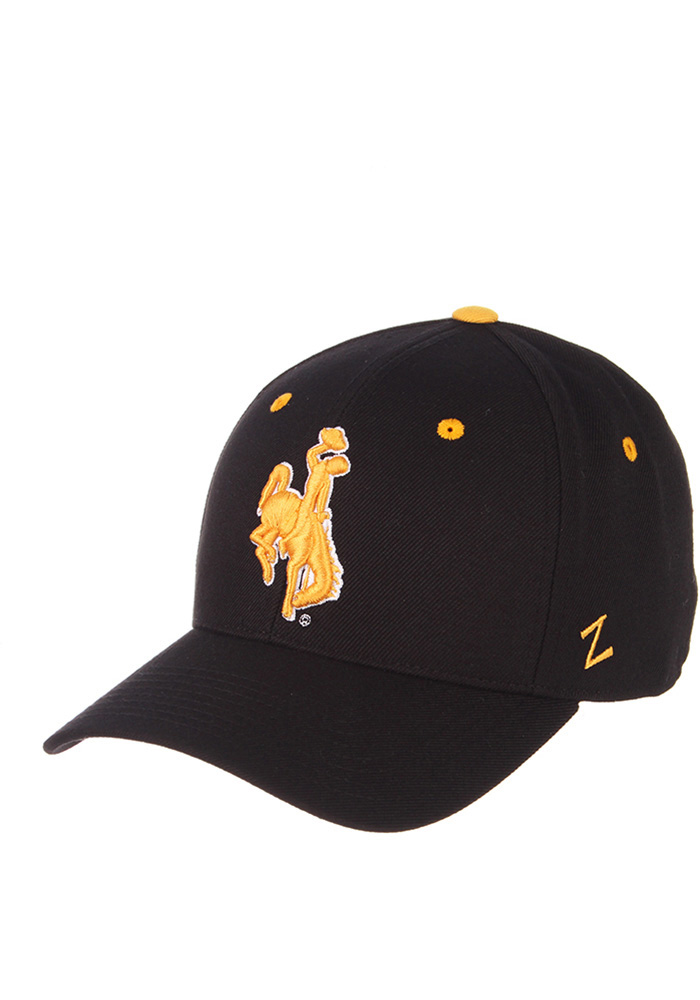Zephyr Wyoming Cowboys Mens Black DH Fitted Hat - Image 1