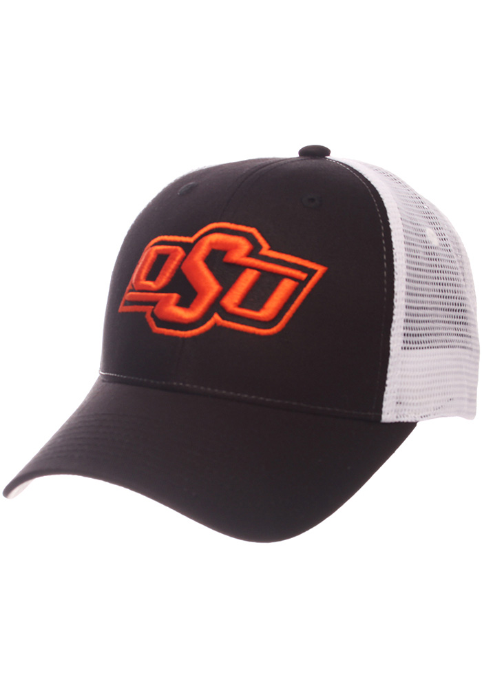 Zephyr Oklahoma State Cowboys Big Rig Adjustable Hat - Black - Image 1