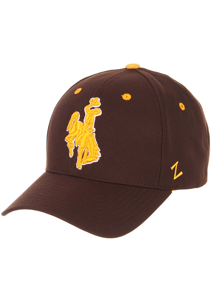 Zephyr Wyoming Cowboys Competitor Adjustable Hat - Brown