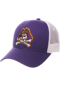 East Carolina Pirates Big Rig Adjustable Hat - Purple