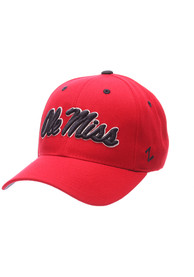 Ole Miss Rebels Competitor Adjustable Hat - Red