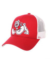 Fresno State Bulldogs Big Rig Adjustable Hat - Red