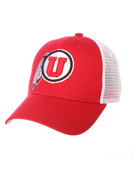 Utah Utes Big Rig Adjustable Hat - Red