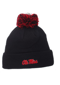 Ole Miss Rebels Pom Knit - Navy Blue