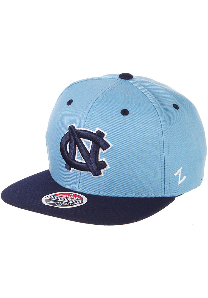 Zephyr North Carolina Tar Heels Light Blue Z11 Mens Snapback Hat - Image 1