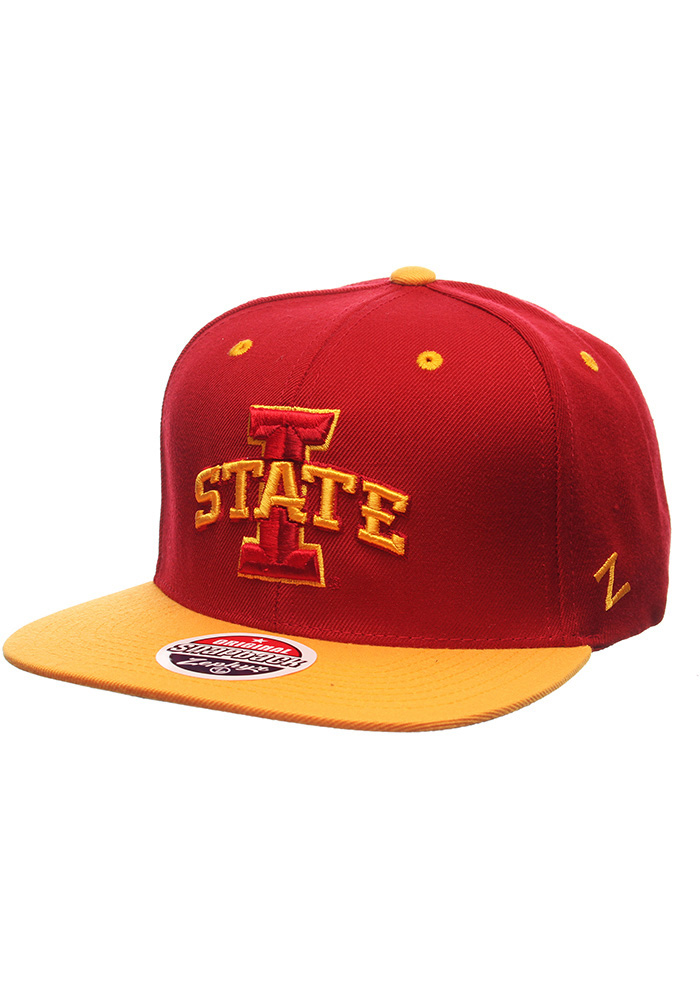 Zephyr Iowa State Cyclones Red Z11 Mens Snapback Hat - Image 1
