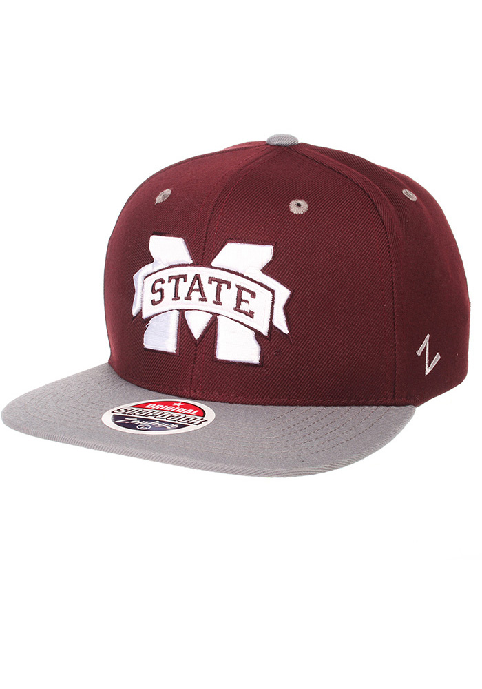 40b78a36bf0 Zephyr Mississippi State Bulldogs Maroon Z11 Snapback Hat