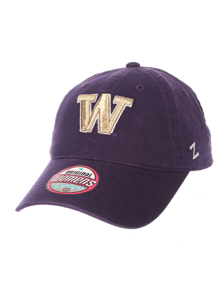 7dda7edc482 Zephyr Washington Huskies Womens Purple Girlfriend Adjustable Hat