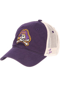 East Carolina Pirates University Meshback Adjustable Hat - Purple