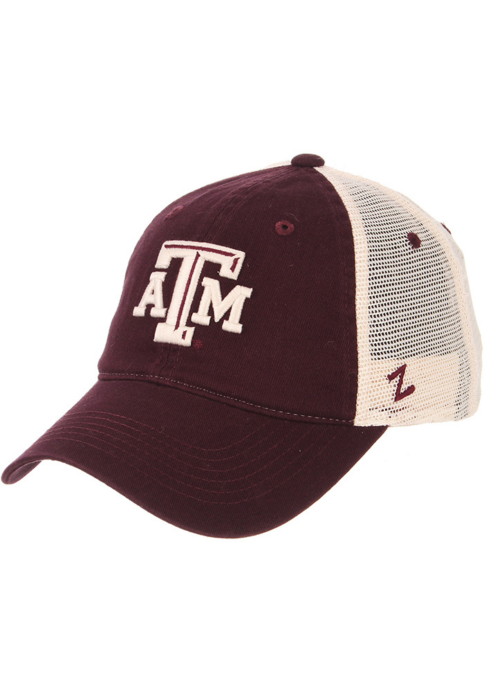 Zephyr Texas A&M Aggies University Meshback Adjustable Hat - Maroon - Image 1